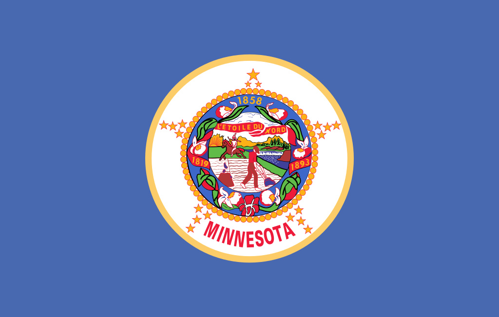 The Minnesota state flag