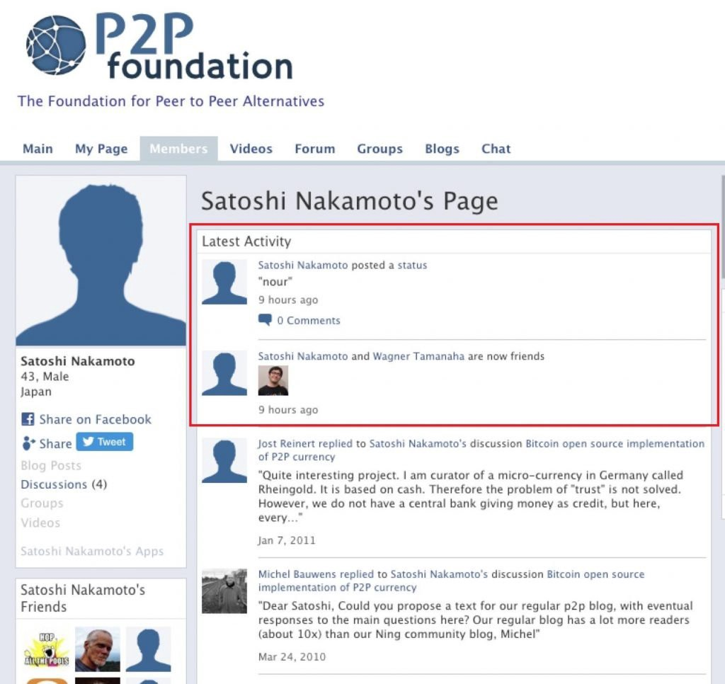 Satoshi Nakamoto's Account Active for the First Time Since 2011