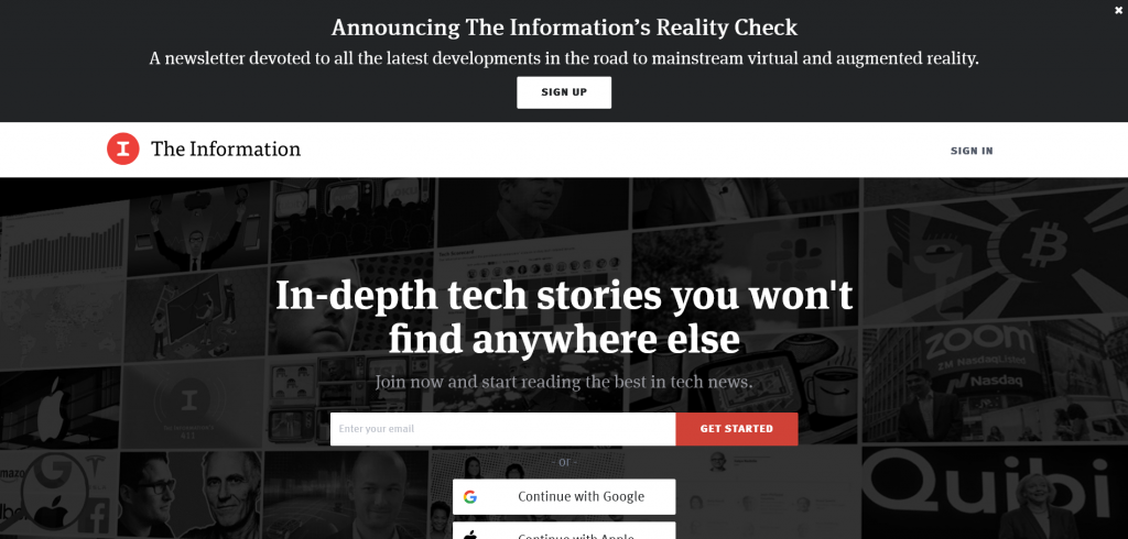 website to find tech stories — The information