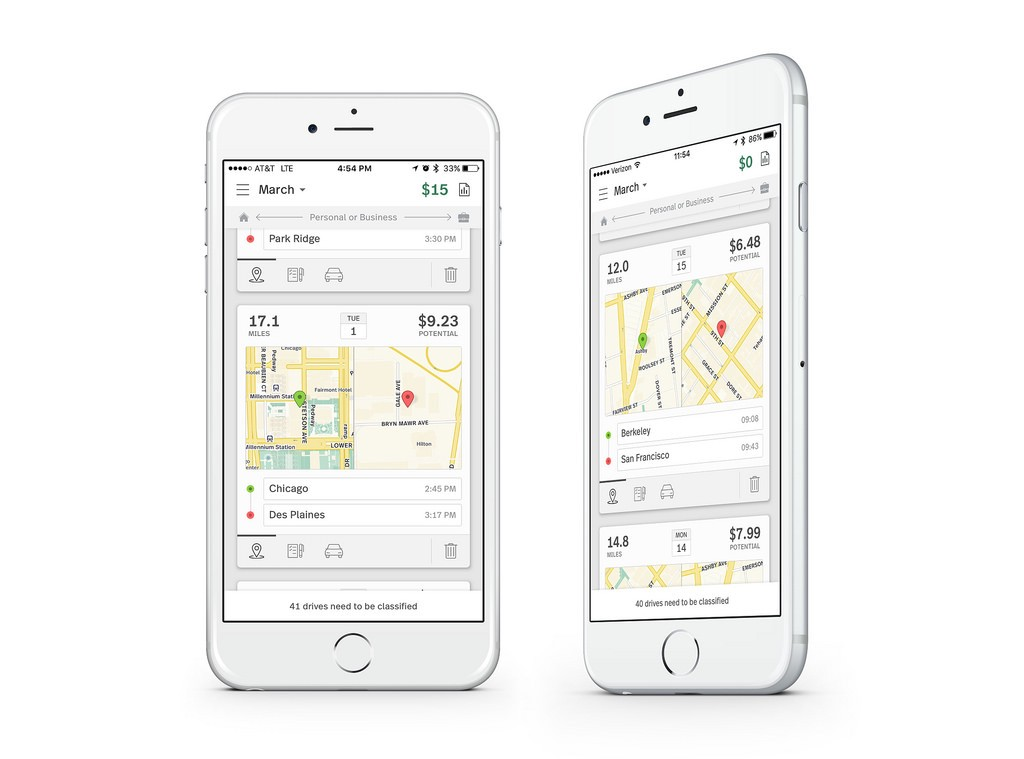 Maps for tracking mileage with MileIQ - Points of interest