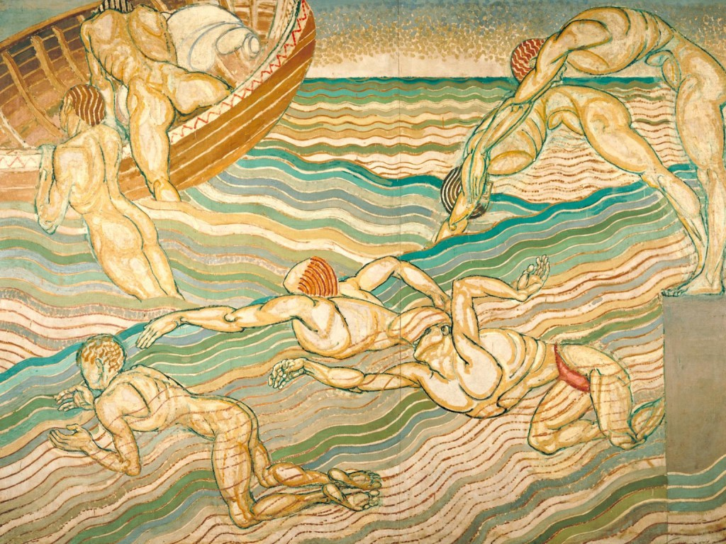 Duncan Grant Bathing 1911 Oil on canvas support: 2286 x 3061 mm. Purchased 1931© Tate