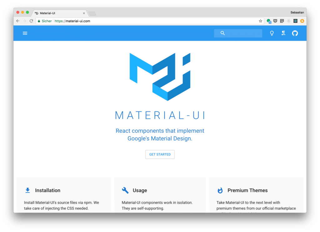 Material UI - the most popular React UI Component