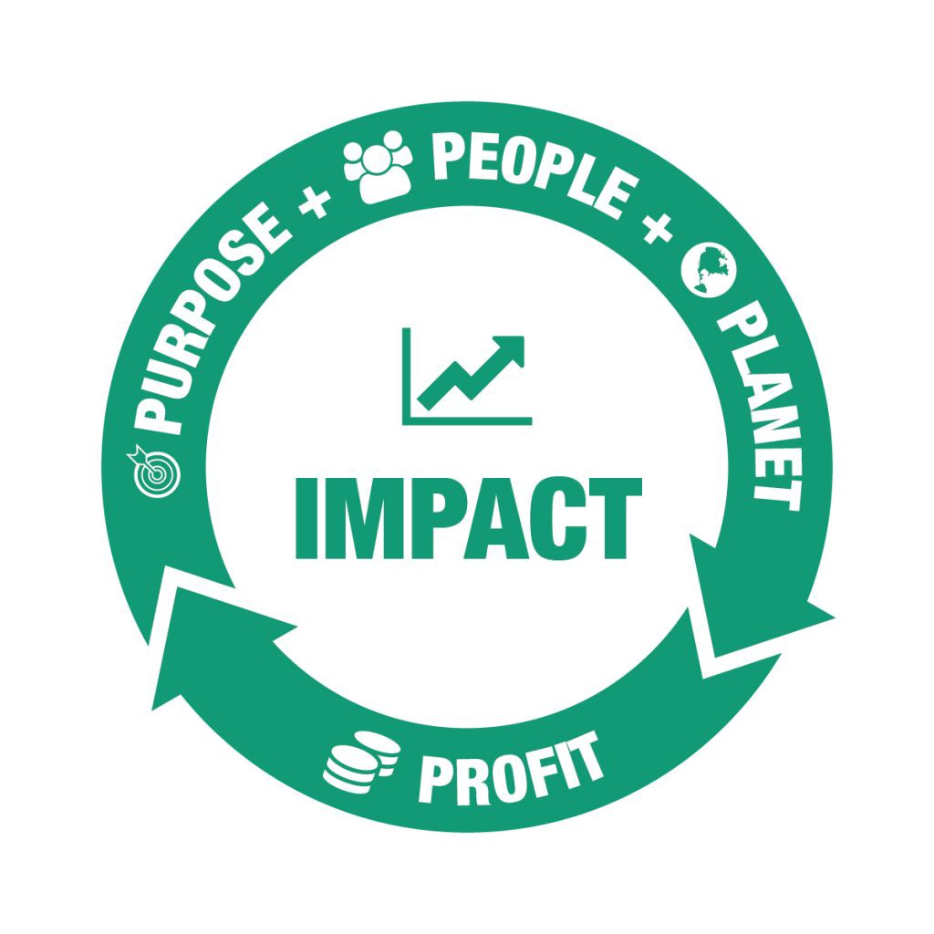 Purpose, People, Planet - Profit for Impact Triple Bottom Line Being More