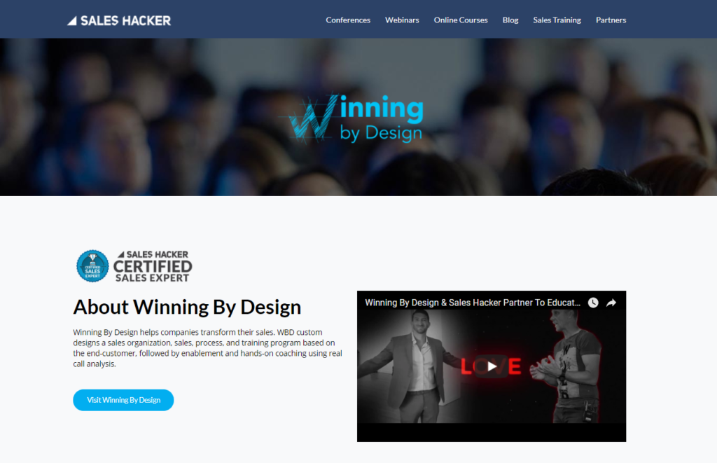 winning by design landing pages