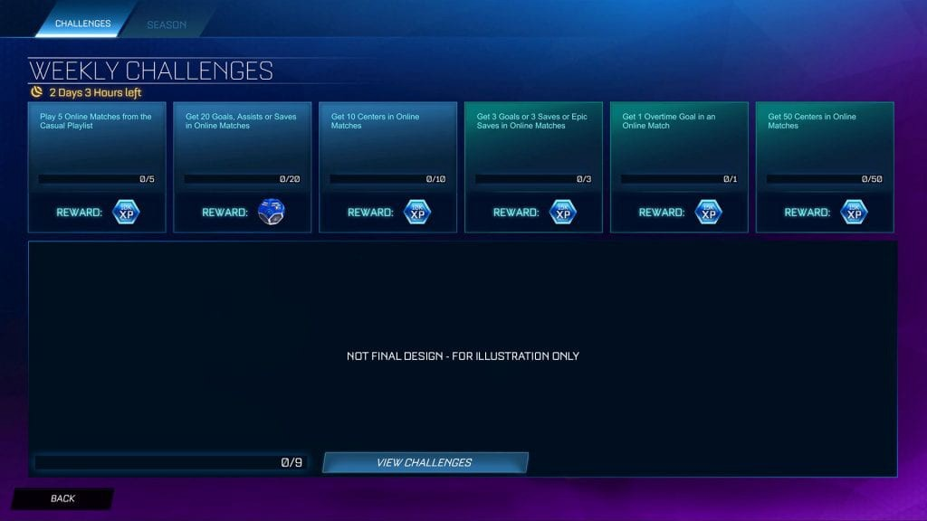Rocket League Weekly Challenges