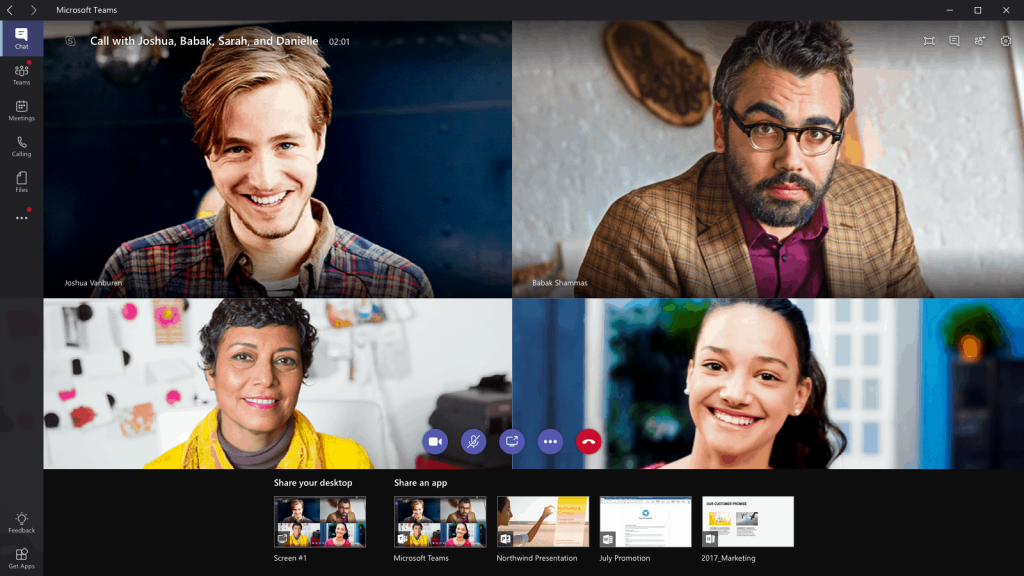Microsoft Teams video call