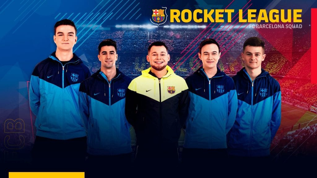 FCB Barcelona releases entire Rocket League lineup