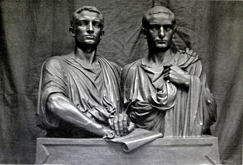 The busts of the Gracchi brothers