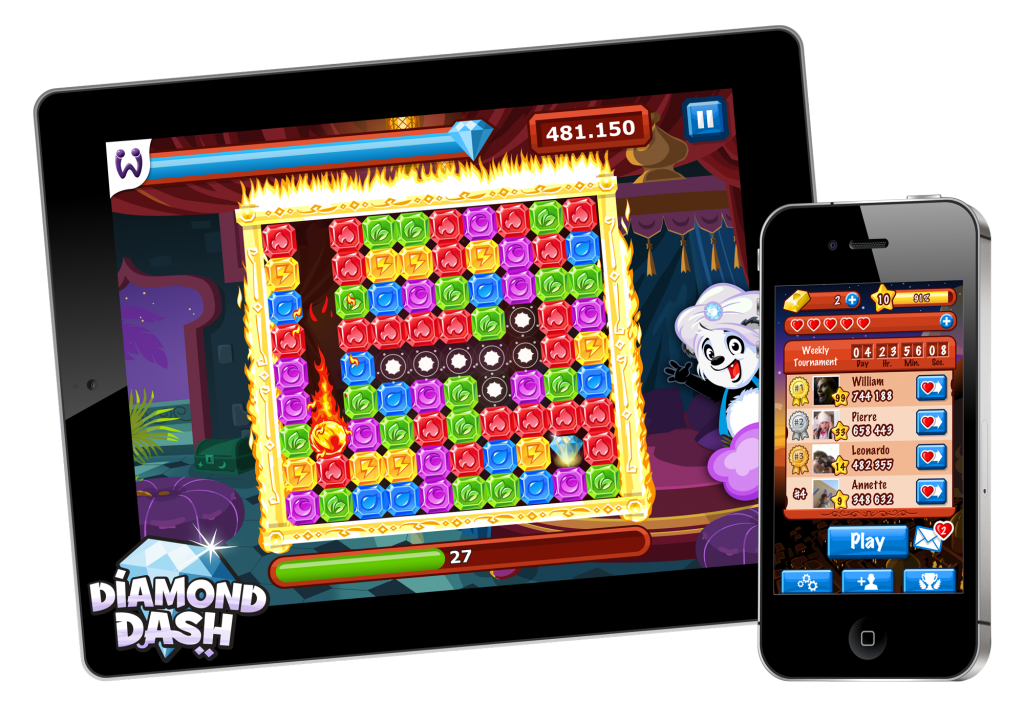 Diamond Dash goes mobile — Wooga launches popular social
