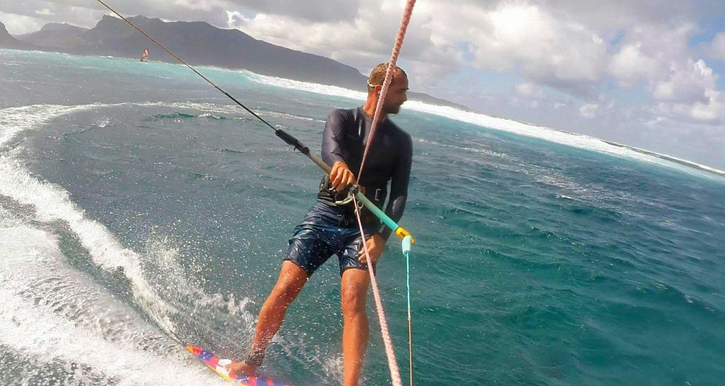 Kiting the breaks of Le Morne