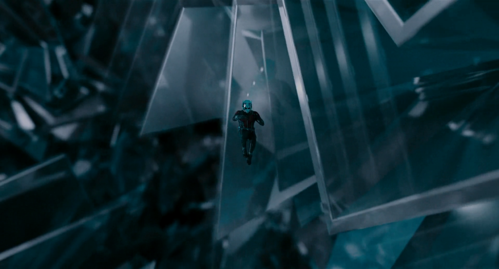 Ant-Man shrinks to visit the Quantum Realm, one of the many dimensions in the MCU Multiverse.