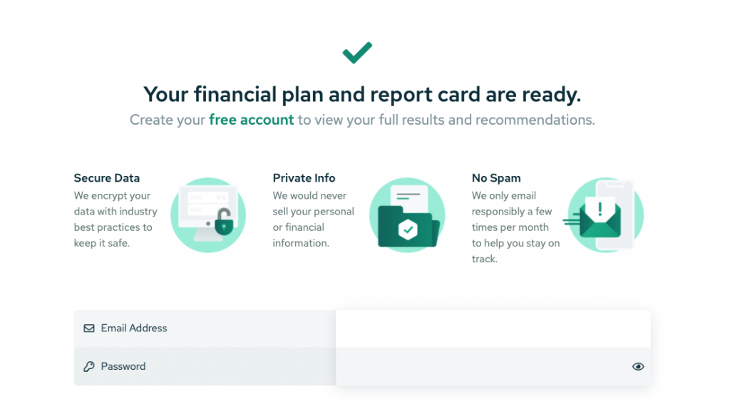 Savology - Your financial plan and report card are ready