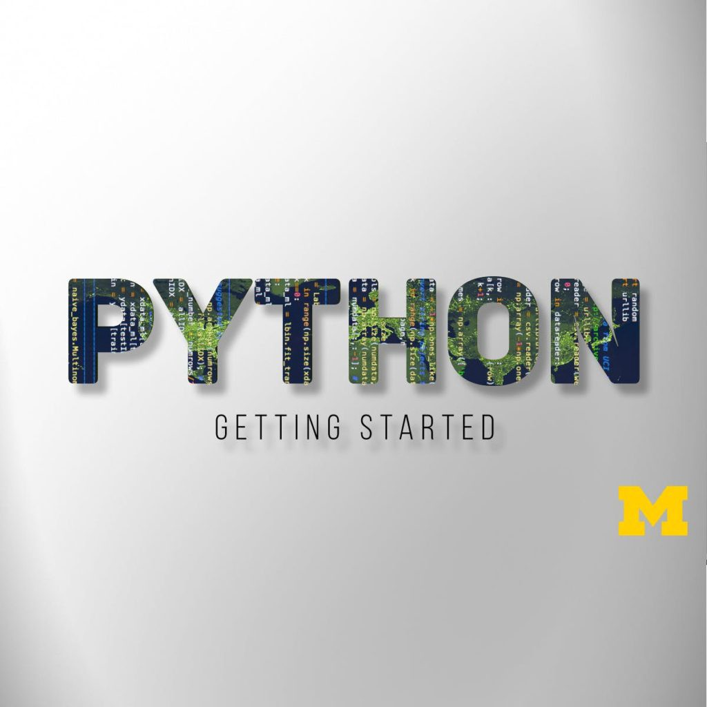 Getting Started with Python from Michigan University