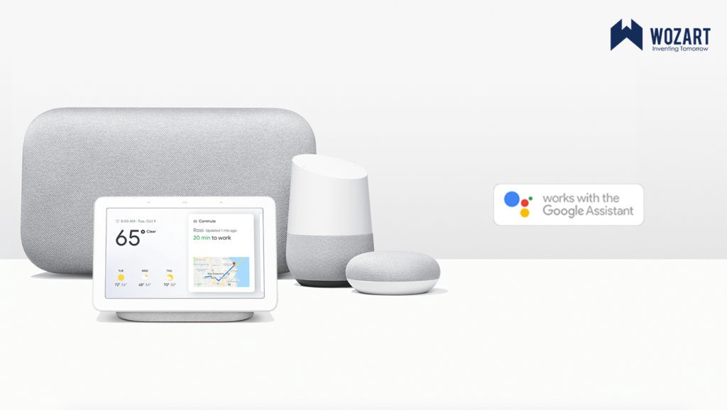 voic control your home with Google Assistant using Wozart Aura