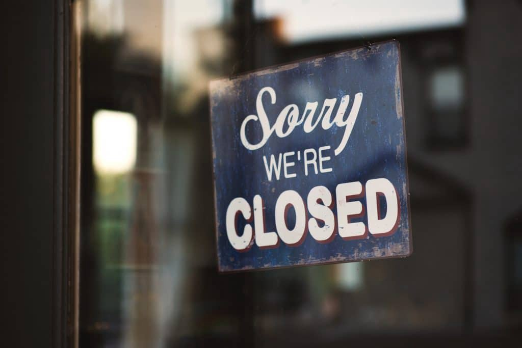 Reflection has been in short supply in recent weeks. This Sorry We're Closed sign in the shop window encapsulates my feelings.