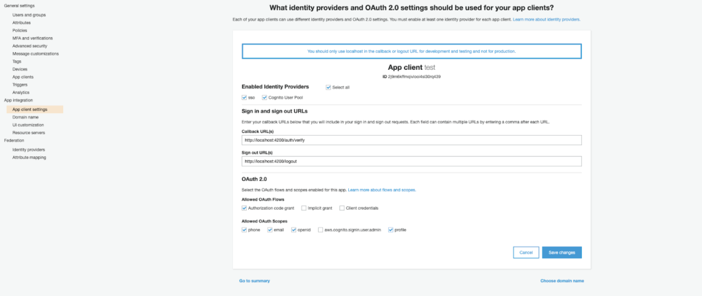 Amazon Cognito: Authentication managed by means of Single