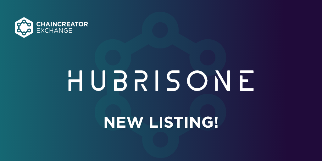 HubrisOne to be listed on CHAINCREATOR Exchange