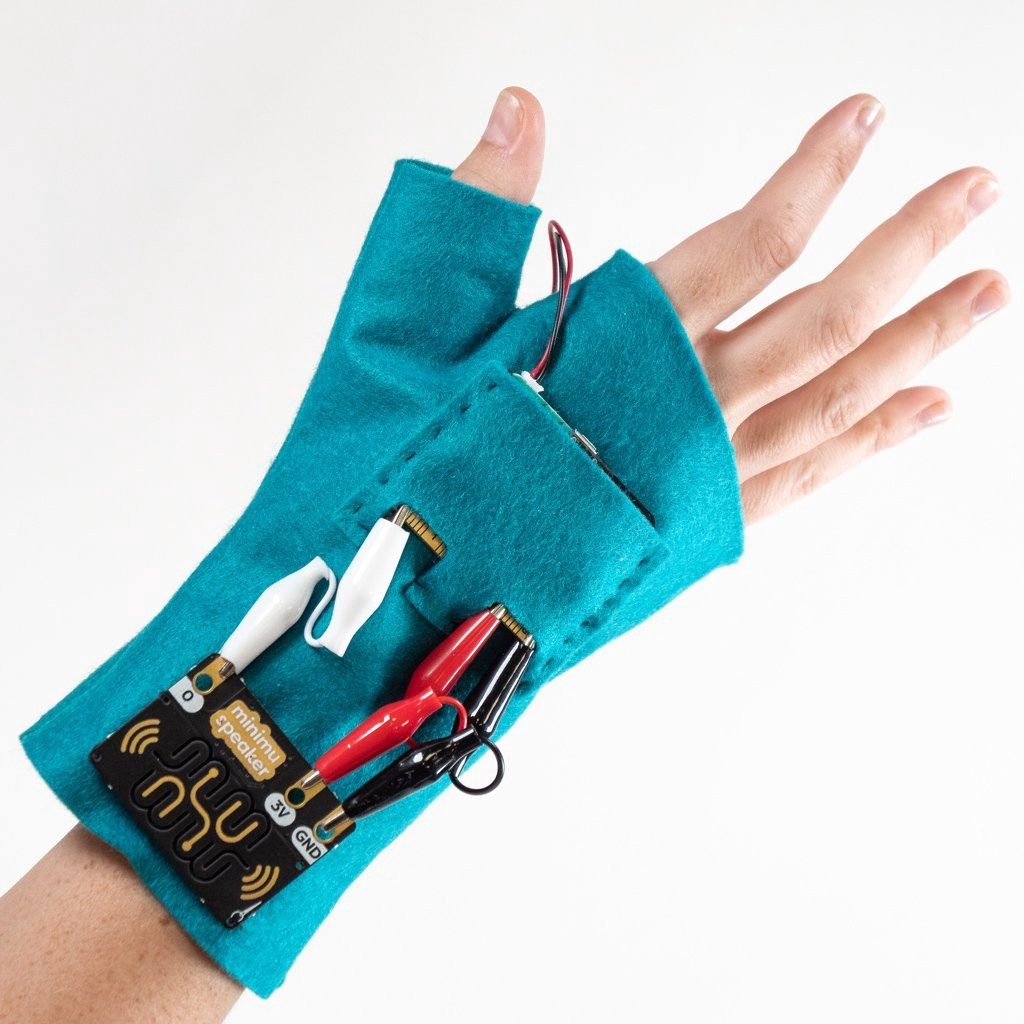 A do-it-yourself glove that makes music