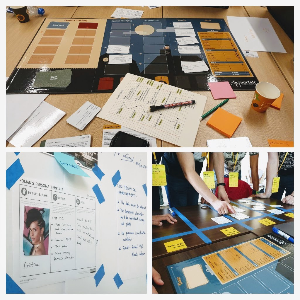 Story Mapping workshop with ScrumTale simulation game