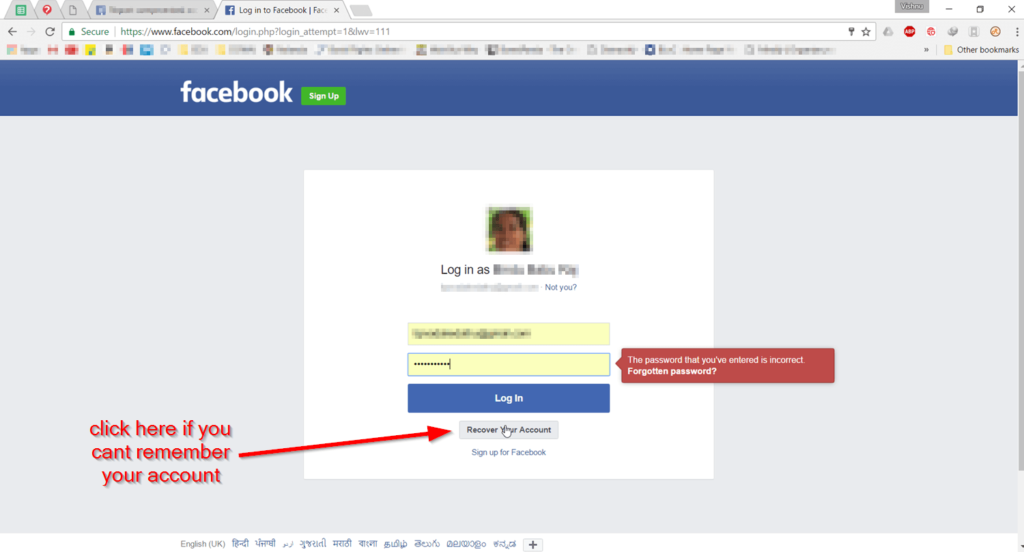 Facebook account recovery guide for Hacked or Forgotten 1