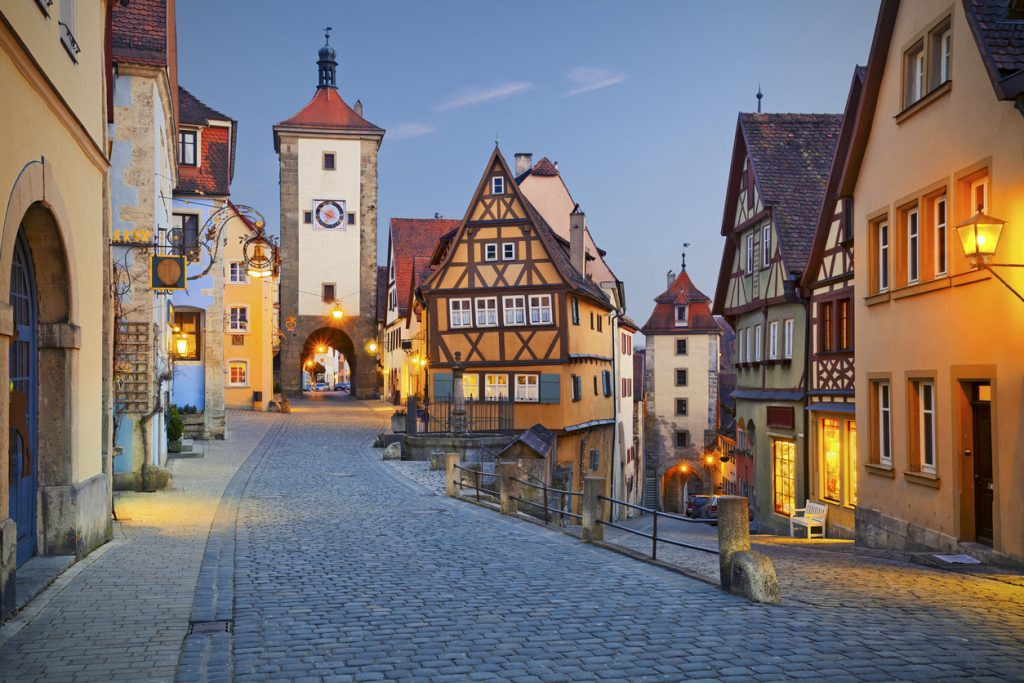 Rothenburg ob der Tauber a town in Bavaria, Germany