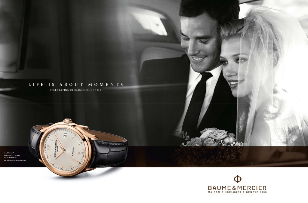 """Baume & Mercier's """"Life is About Moments"""" wedding advertisement"""