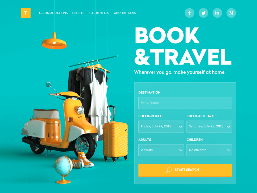 Web Design Inspiration 9 Web Interfaces With Catchy Graphics By Tubik Studio Ux Planet