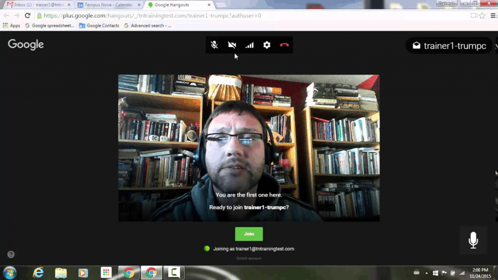 Google Hangout video call