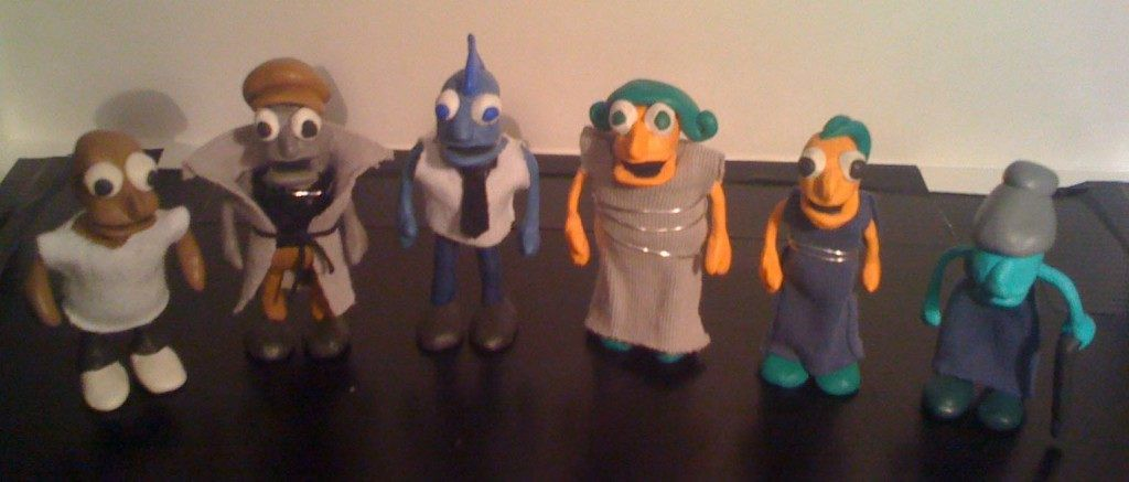 Making the puppets using Sugru hacking putty