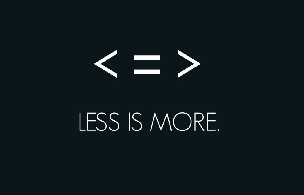 write less is more