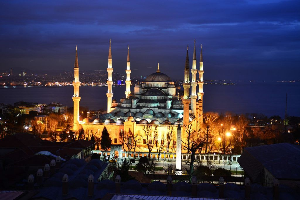 The famous Blue Mosque in Istanbul, Turkey