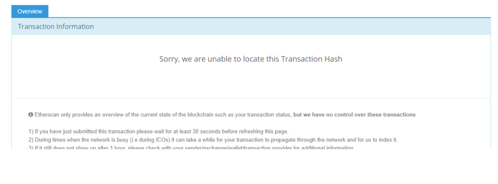 HOW TO FIX: Sorry, we are unable to locate this Transaction