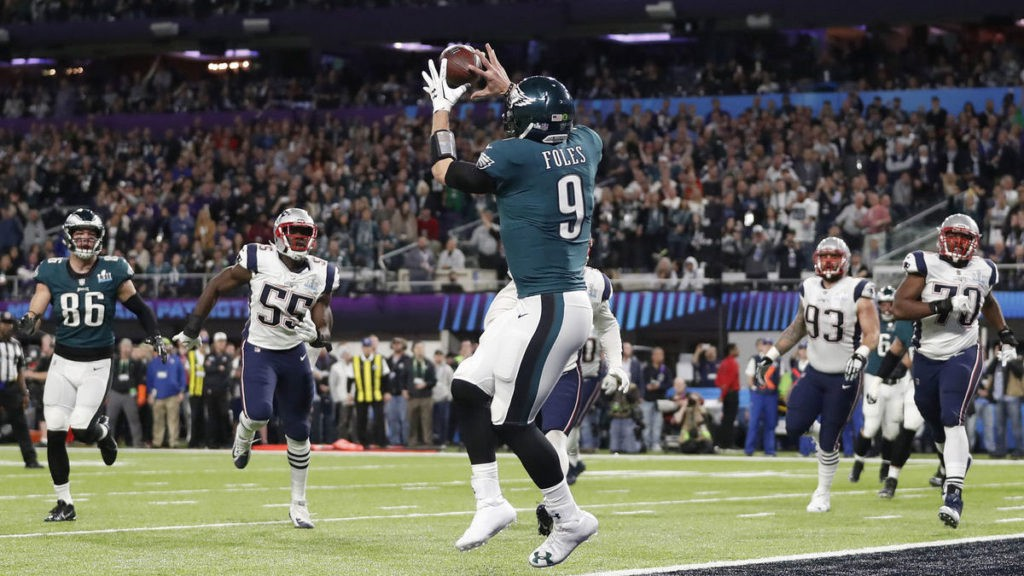 The Eagles scored on a fourth and goal play in the Super Bowl. It changed the game.
