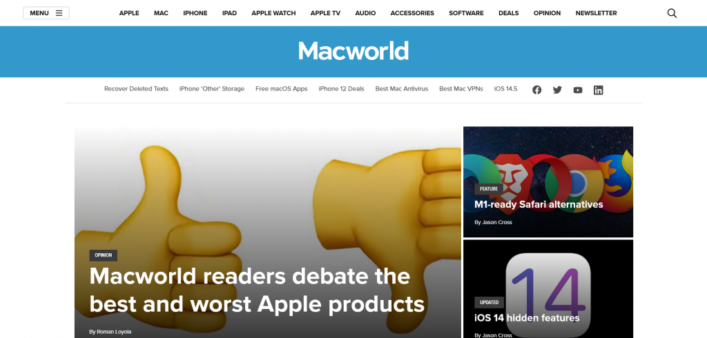best tech website for Apple users — MacWorld