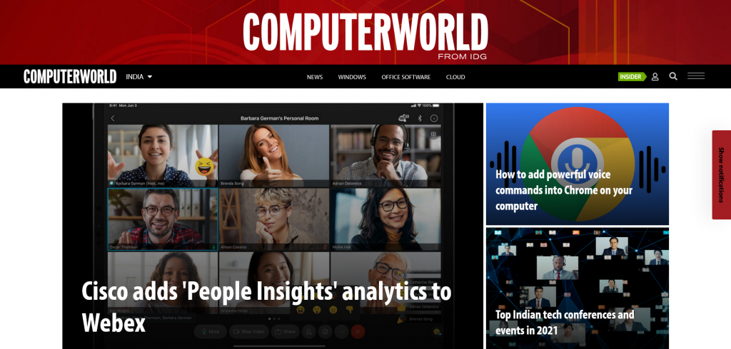 website for technology — Computerworld