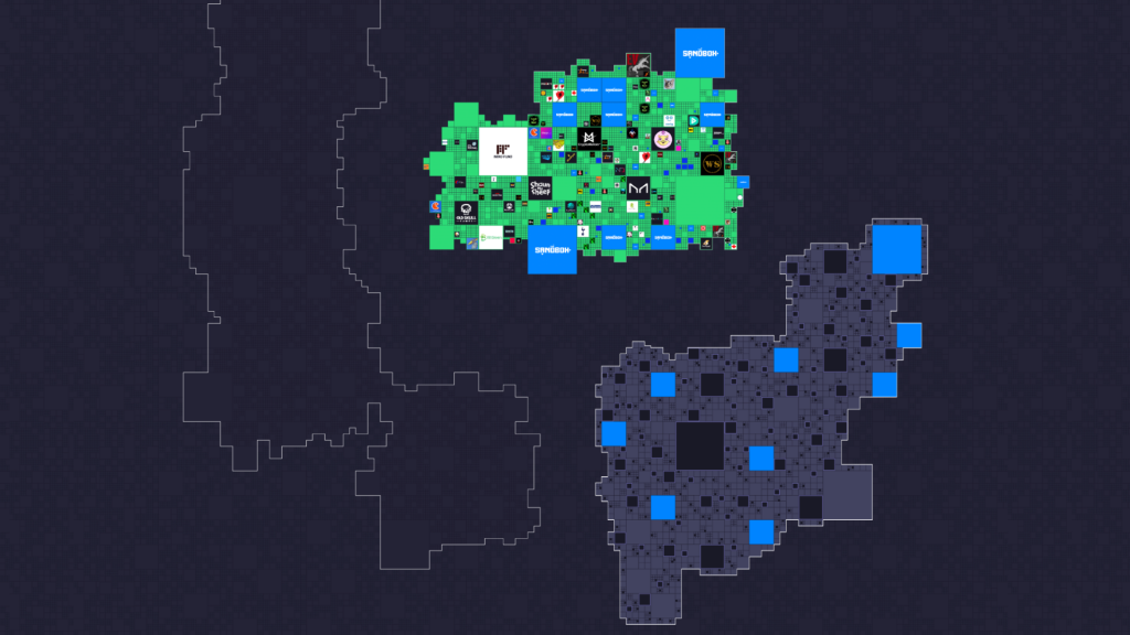 The Sandbox Third Land Sale map