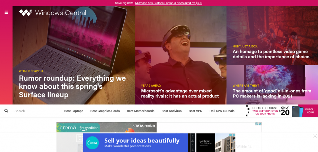 tech news website for Windows — Windows Central