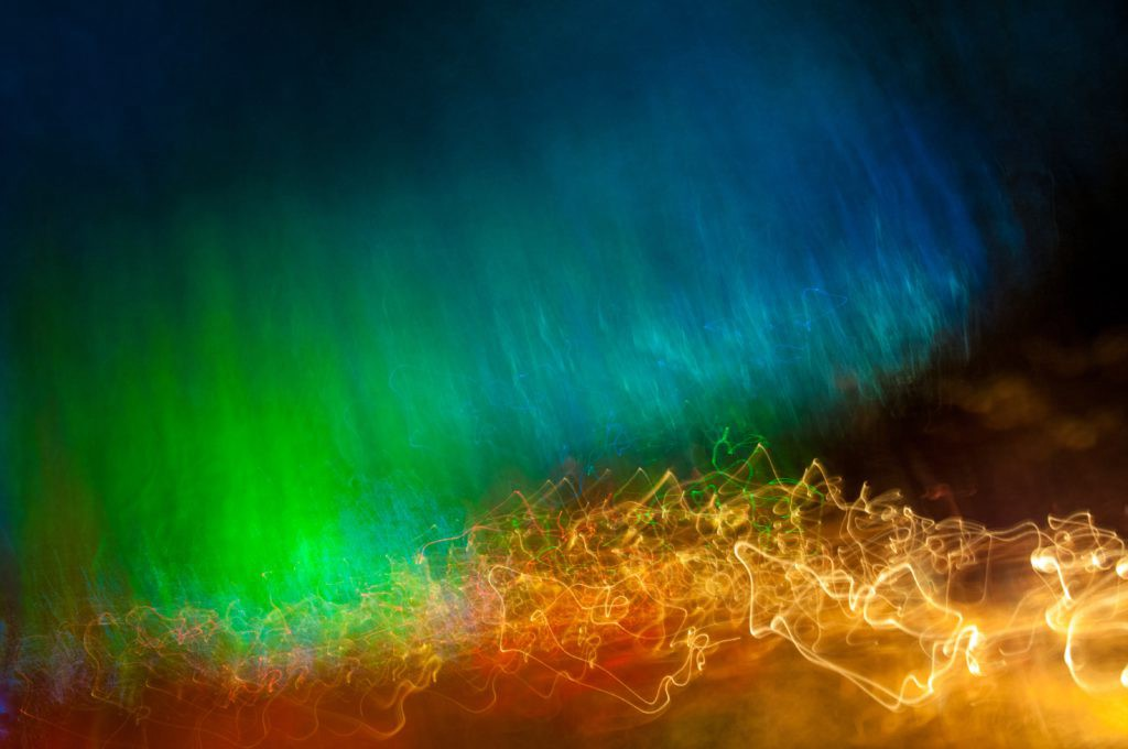 "Colourful waves of light that feel ""digital"""
