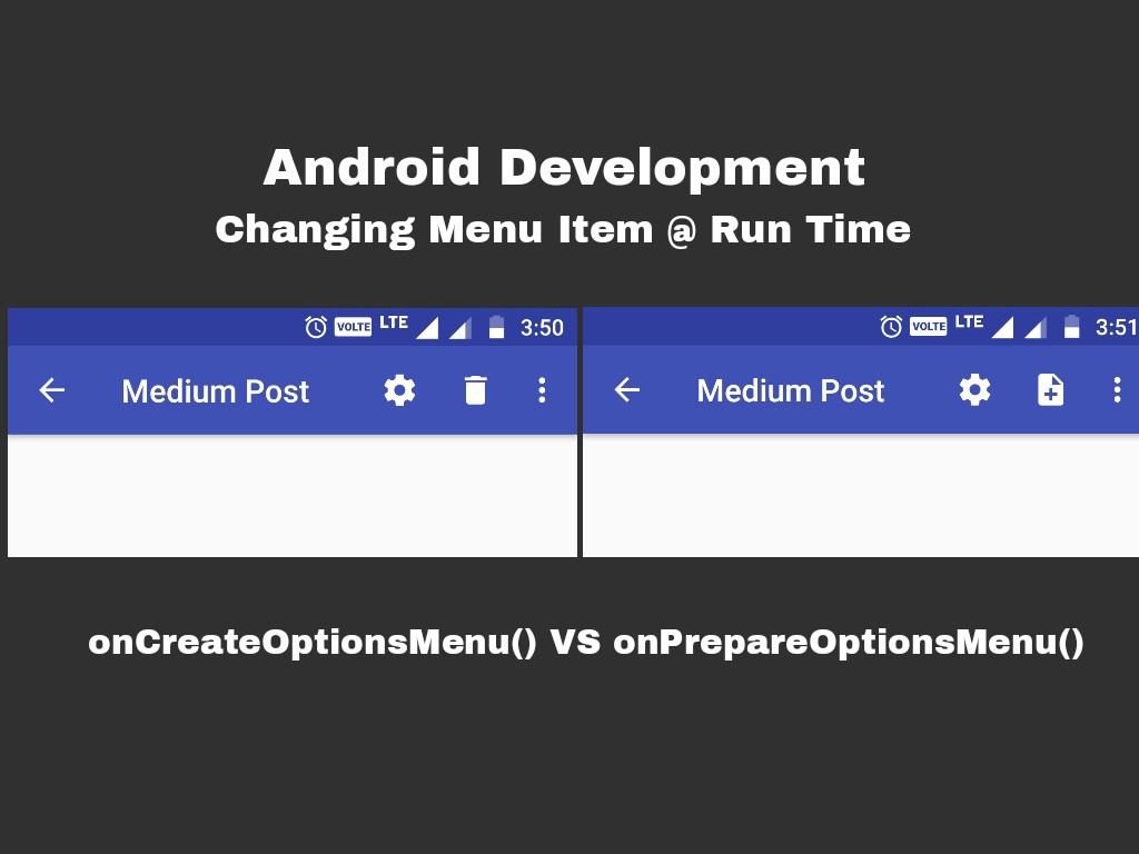 Android 📱 Changing Menu Items at Run Time - Ramkumar N - Medium
