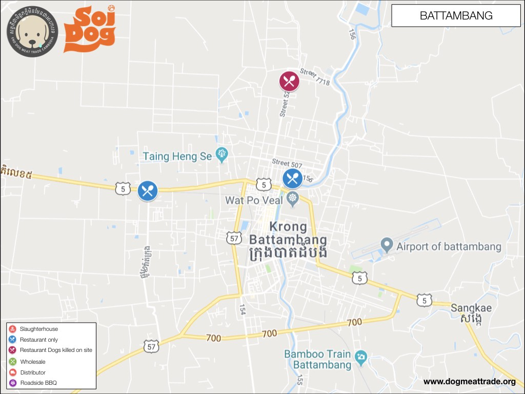 Dog Meat Trade Cambodia Maps And Distribution 2018–2019