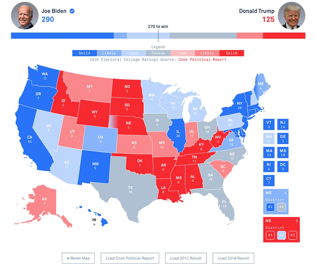 2020 Electoral College Map by PBS