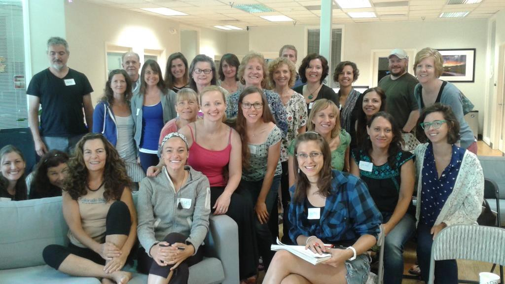 Diane Whiddon and a group of 30 of her students at a business workshop