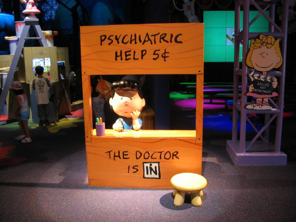 The doctor is IN, Peanuts.