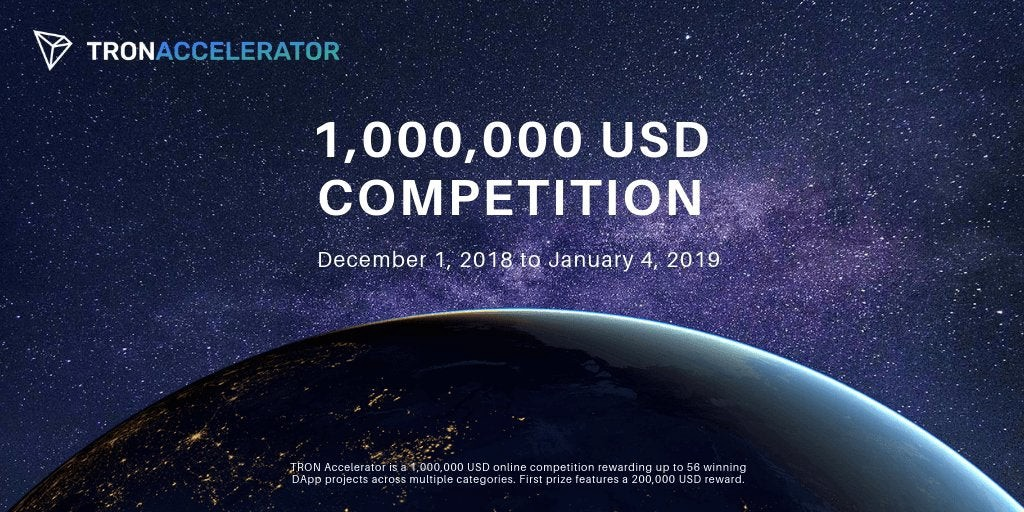 Tron Accelerator 1,000,000 USD competition