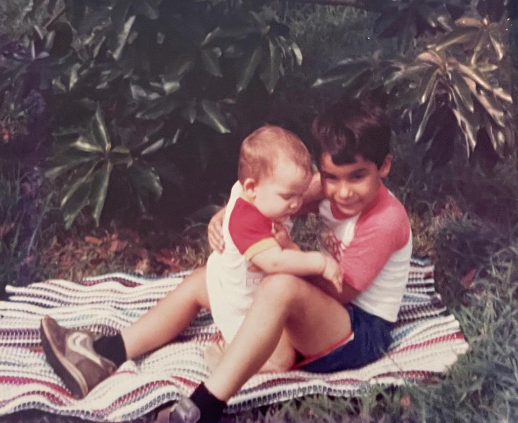 The author with his younger brother.