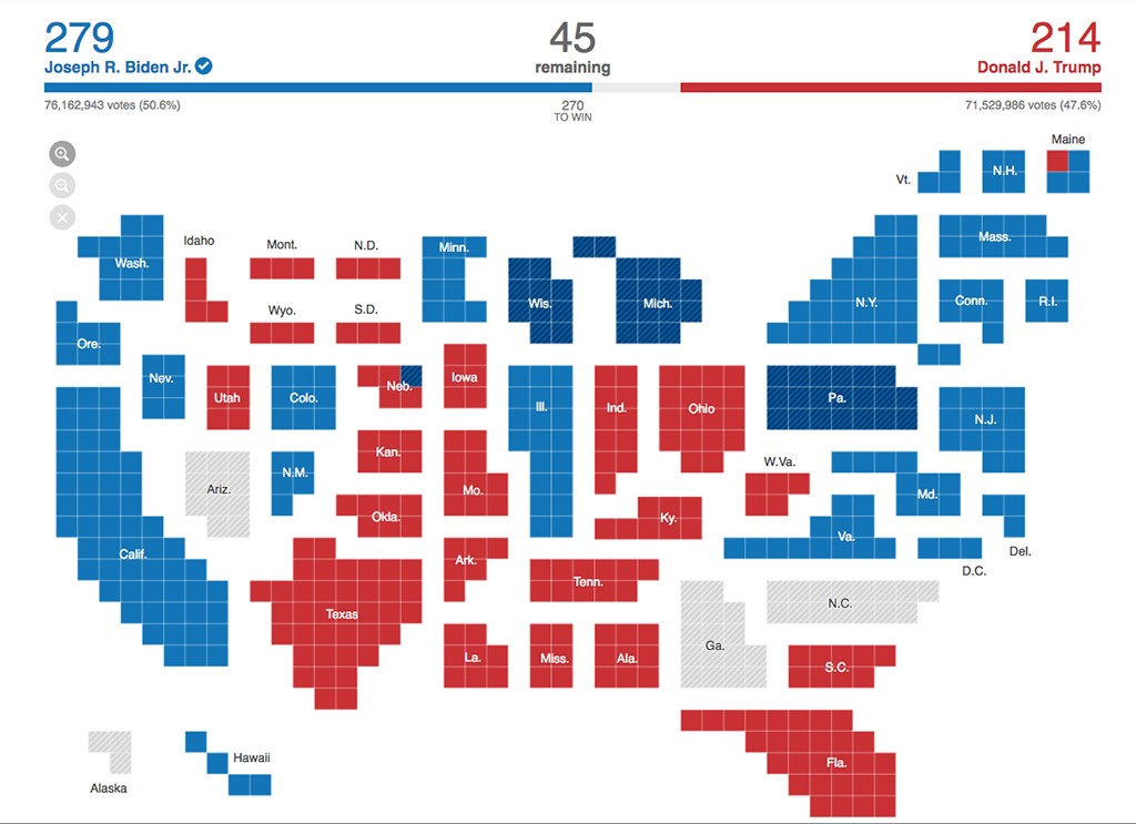 Presidential Election Results by The New York Times