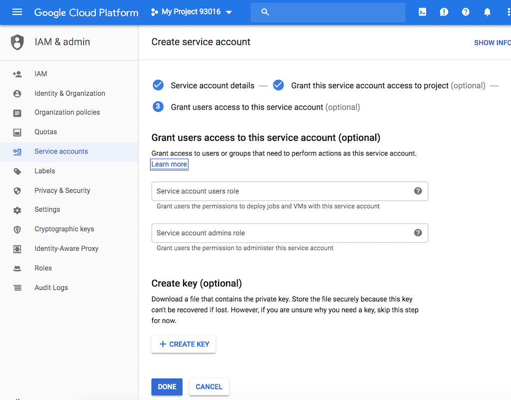 Access GSuite APIs on your domain using a service account