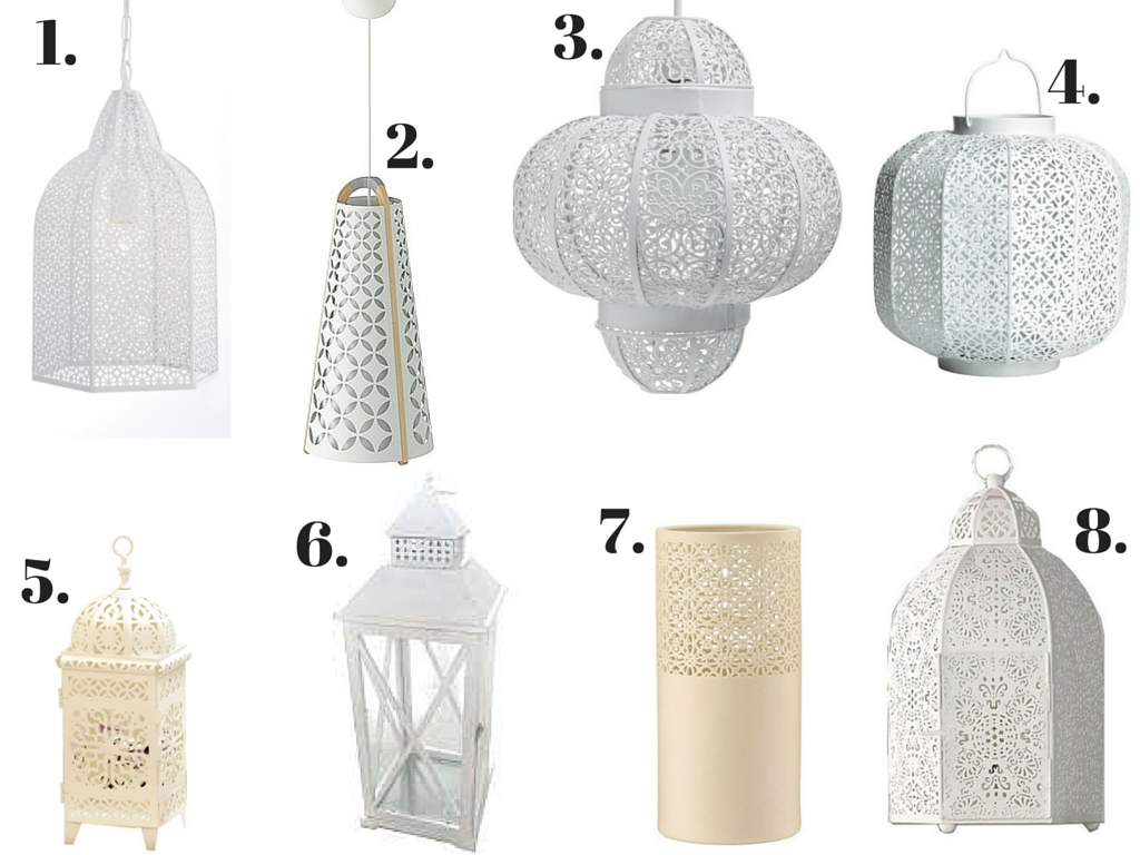 8 Modern White Moroccan Lighting You Can Right Here