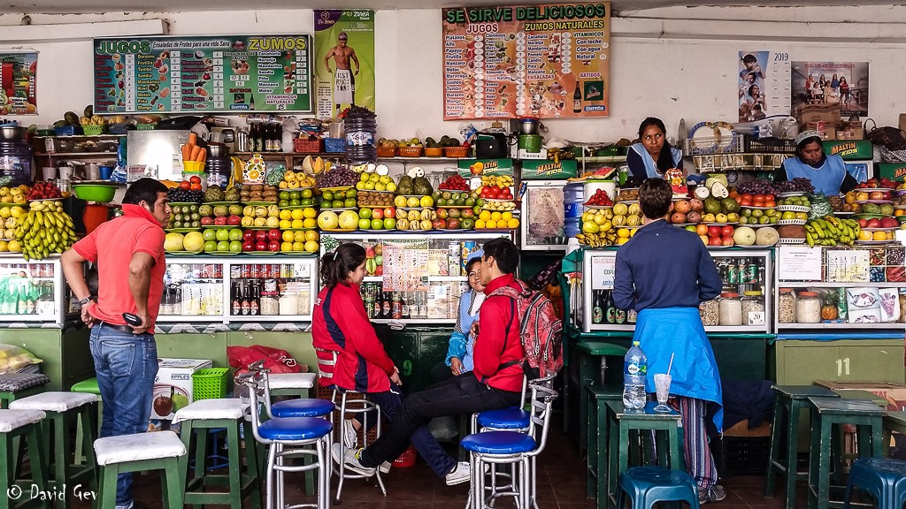 The fruit juice market in Sucre