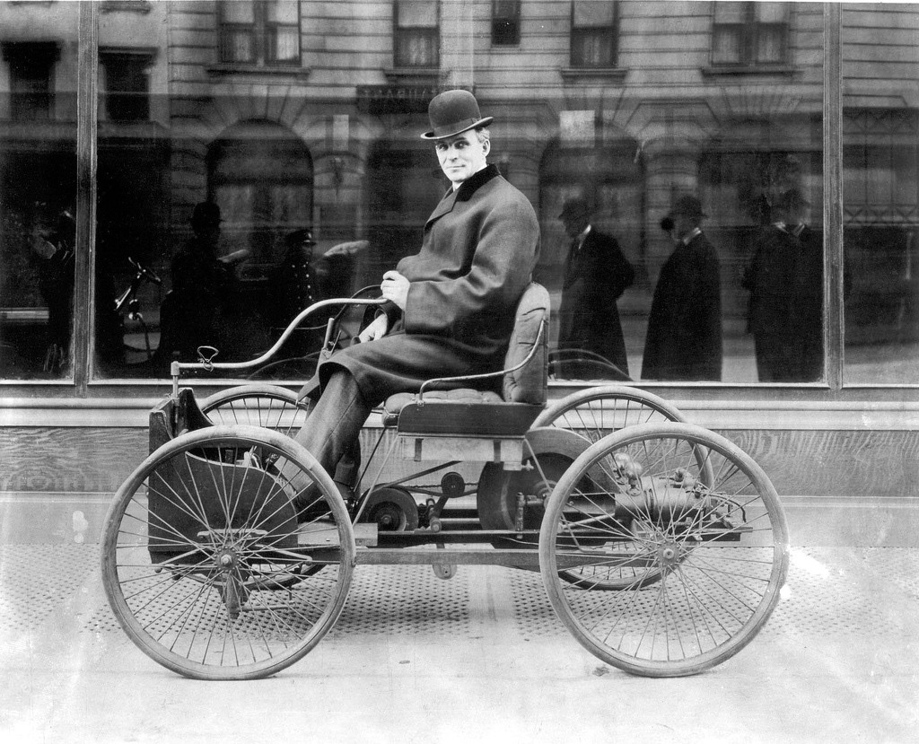 The Ford Quadricycle was the first vehicle developed by Henry Ford.